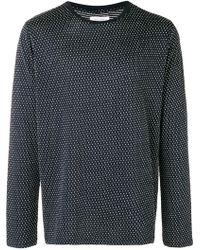 Soulland - Pointelle Textured Long Sleeve Crew Neck Shirt - Lyst
