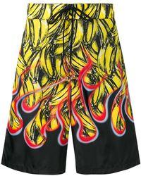 6cd2ecd2af916 Fendi Banana Patch Shorts in Brown for Men - Lyst
