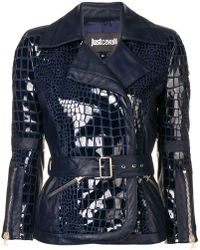 Just Cavalli - Belted Fitted Jacket - Lyst
