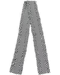 Magda Butrym - Striped Ruffle Trim Scarf - Lyst