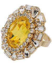 DANNIJO - Khan Crystal Cocktail Ring - Lyst
