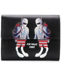 Undercover - Graphic Print Foldover Wallet - Lyst