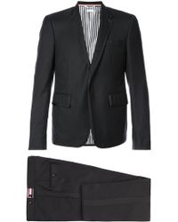 Thom Browne - High Armhole Tuxedo And Low Rise Skinny Trouser With Grosgrain Tipping In Super 120's Twill - Lyst