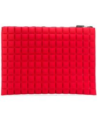 NO KA 'OI - Extra Large Grid Textured Pouch - Lyst