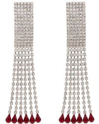 Alessandra Rich - Rectangular Crystal Drop Earrings - Lyst