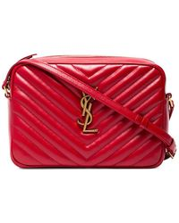 Saint Laurent - Loulou Monogram Leather Crossbody Bag - Lyst