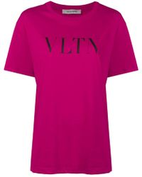 Valentino - Vltn Printed T-shirt - Lyst