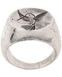 Henson - Engraved Hummingbird Ring - Lyst