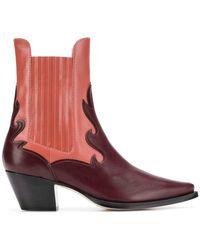 Alberta Ferretti - Two-tone Western Boots - Lyst