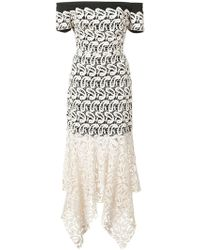 Nicole Miller - Lace Layered Strapless Dress - Lyst