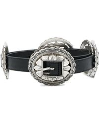 DIESEL - Flower Plate Buckle Belt - Lyst