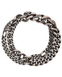 Werkstatt:münchen - Double Chain Bracelet - Lyst