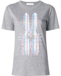 Peter Jensen - Checked Rabbit T-shirt - Lyst