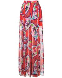 Delpozo - Print Flared Trousers - Lyst