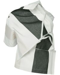 132 5. Issey Miyake - Panelled Asymmetric Top - Lyst