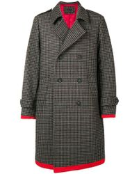 Tommy Hilfiger - Midi Buttoned Coat - Lyst