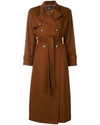 Erika Cavallini Semi Couture - Belted Long Coat - Lyst