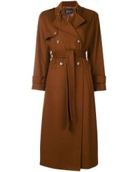 Erika Cavallini Semi Couture - Belted Long Coat - Lyst