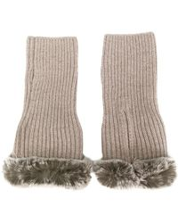 N.Peal Cashmere - Finger-less Gloves - Lyst