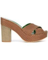 Danielapi - Embossed Platform Sandals - Lyst