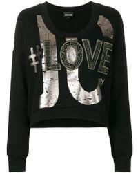 Just Cavalli - Printed Sweatshirt - Lyst