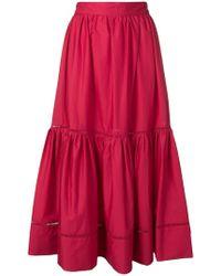 Twin Set - Ruffle Midi Skirt - Lyst