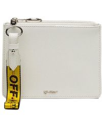 Off-White c/o Virgil Abloh - White Double Flat Leather Pouch - Lyst