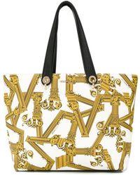 Versace Jeans - Column Print Tote Bag - Lyst