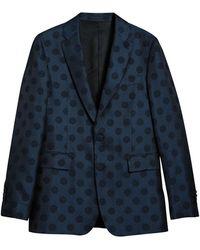 Burberry - Soho Fit Spot Wool Silk Cotton Evening Jacket - Lyst