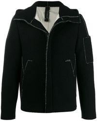 Transit Zipped Hooded Jacket - Black