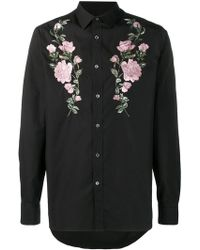 Alexander McQueen - Embroidered Roses Shirt - Lyst