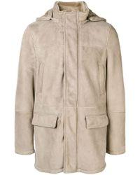 Eleventy - Hooded Zip Coat - Lyst