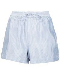 T By Alexander Wang - Striped Shorts - Lyst