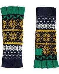 Burberry   Fair Isle Fingerless Gloves   Lyst