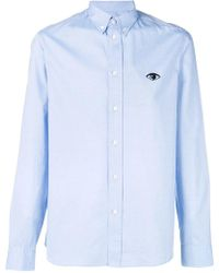 KENZO - Eye Embroidered Button Down Shirt - Lyst