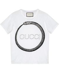 a97e84e4b Gucci Fication T-shirt in Blue for Men - Lyst