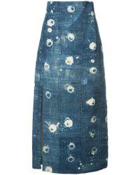 Adam Lippes | Chambray High Waist Skirt | Lyst