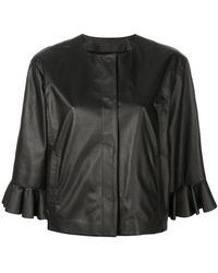 DROMe - Frilled Loose Jacket - Lyst