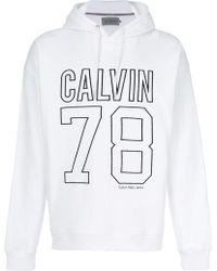 Calvin Klein Jeans | Embroidered Logo Hoodie | Lyst