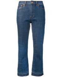 Tory Burch - Cropped Flare Jeans - Lyst