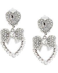 Dolce & Gabbana - Bow Heart Clip-on Earrings - Lyst
