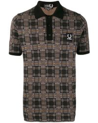 Fred Perry - Jacquard Knit Shirt - Lyst