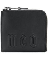 6f0a424ed85c Lyst - Mcq Alexander Mcqueen Black Large Logo Leather Wallet in ...
