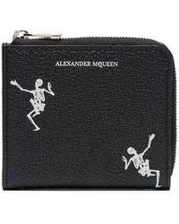 Alexander McQueen - Portamonete 'Dancing Skull' - Lyst