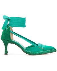 Manolo Blahnik - Low-heel Espadrille Court Shoes - Lyst