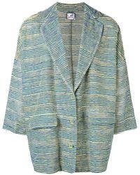 Anntian - Oversized Striped Blazer - Lyst