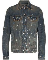 af9a9f1f1 Amiri Leopard Print Bomber Jacket in Brown for Men - Lyst