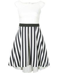 Guild Prime - Contrast Striped Panel Dress - Lyst