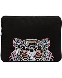KENZO - Black Tiger Head Embroidered Laptop Case - Lyst