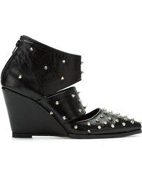 UMA | Raquel Davidowicz - Studded Leather Pumps - Lyst